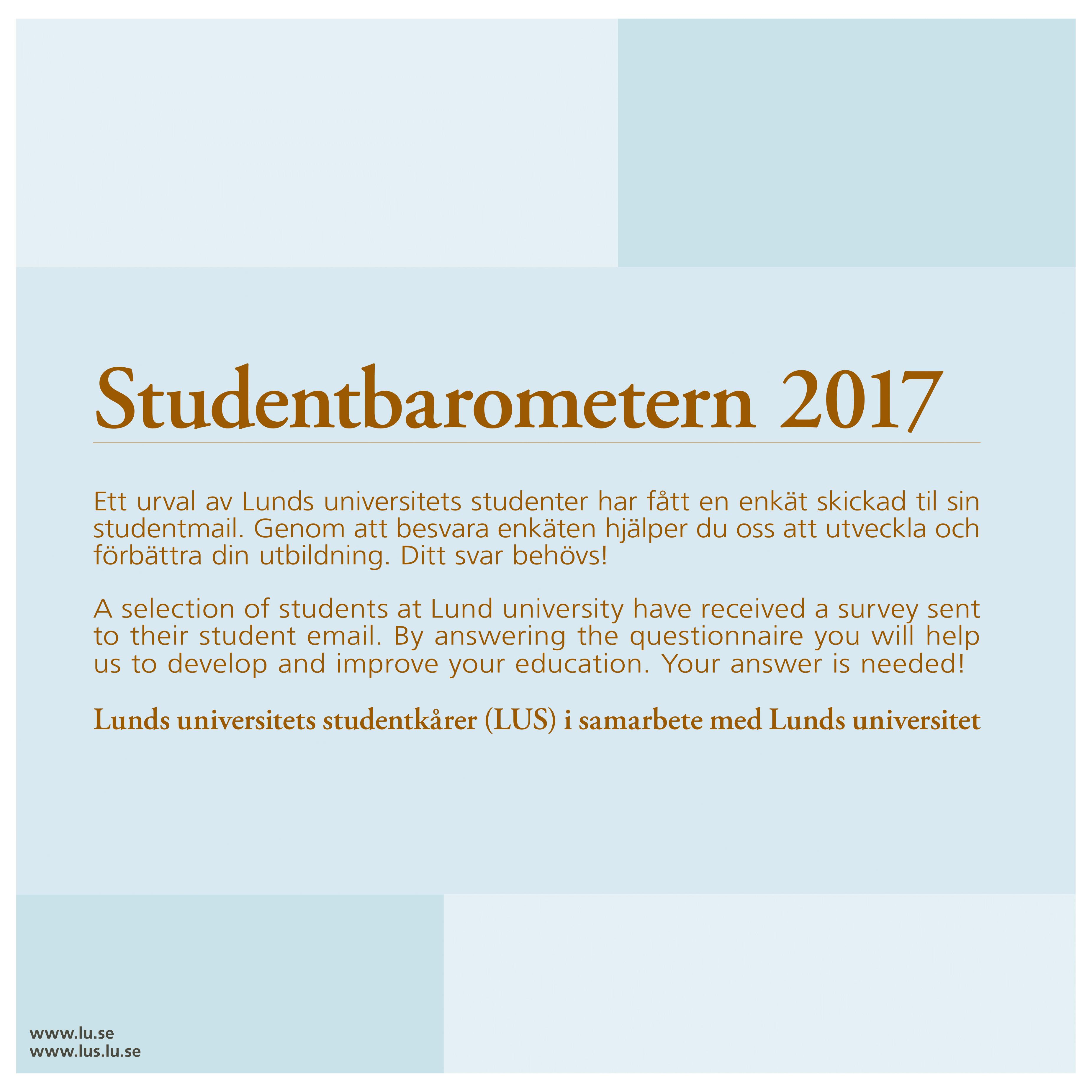 Studentbarometern 2017